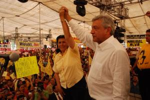 Maribel y AMLO