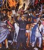 Hidalgo arengando a las masas